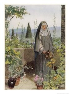 st clare_with_flowers
